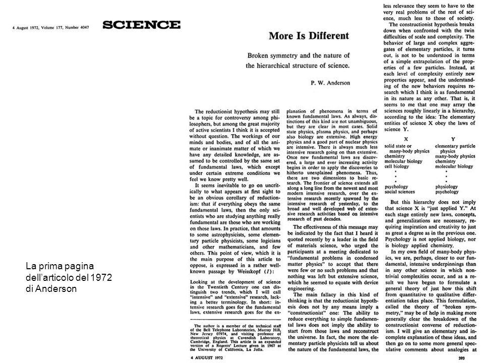 La prima pagina dell'articolo del 1972 di Anderson