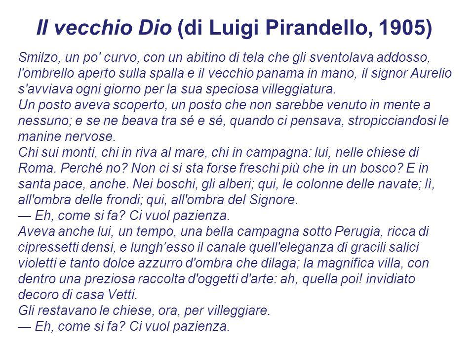 Il vecchio Dio (di Luigi Pirandello, 1905)
