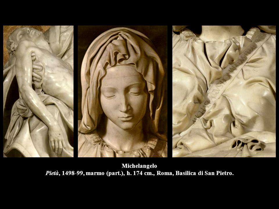 Michelangelo Pietà, 1498-99, marmo (part. ), h. 174 cm