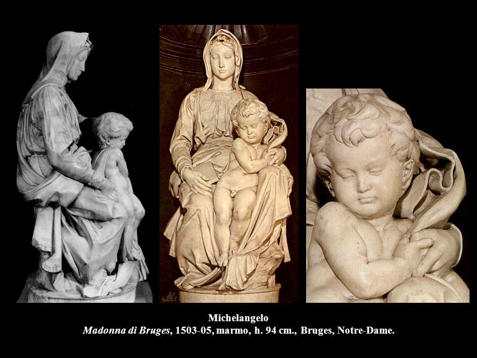 Michelangelo Madonna di Bruges, 1503-05, marmo, h. 94 cm