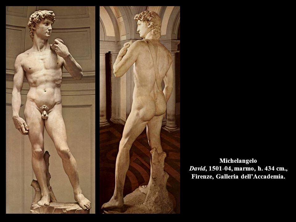 Michelangelo David, 1501-04, marmo, h. 434 cm