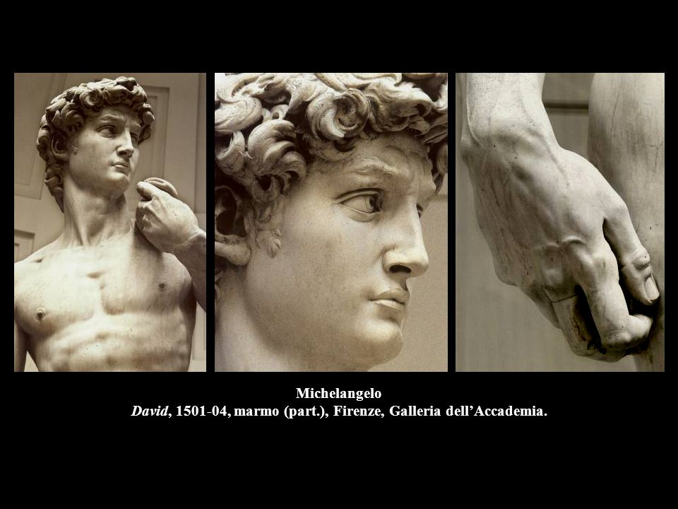 Michelangelo David, 1501-04, marmo (part