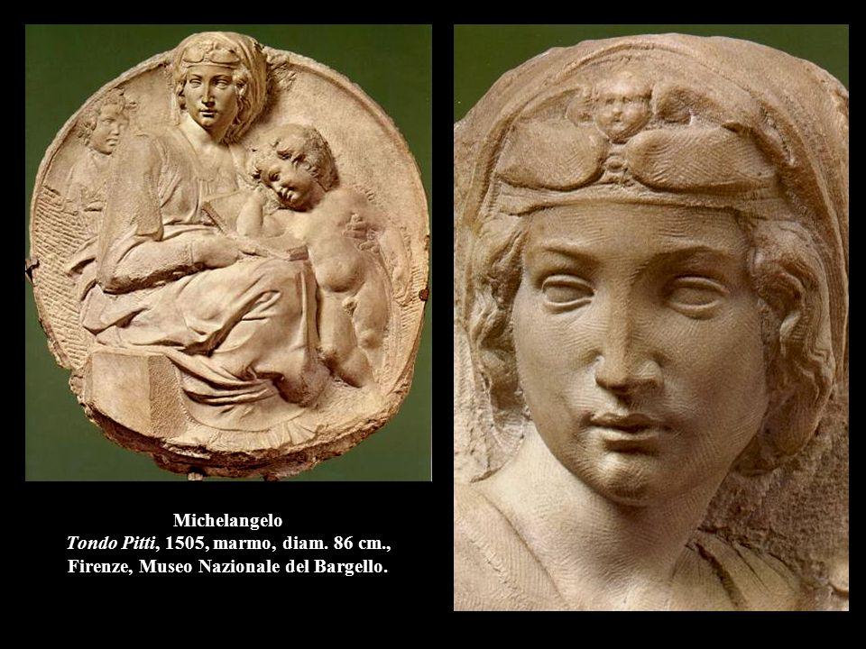Michelangelo Tondo Pitti, 1505, marmo, diam. 86 cm