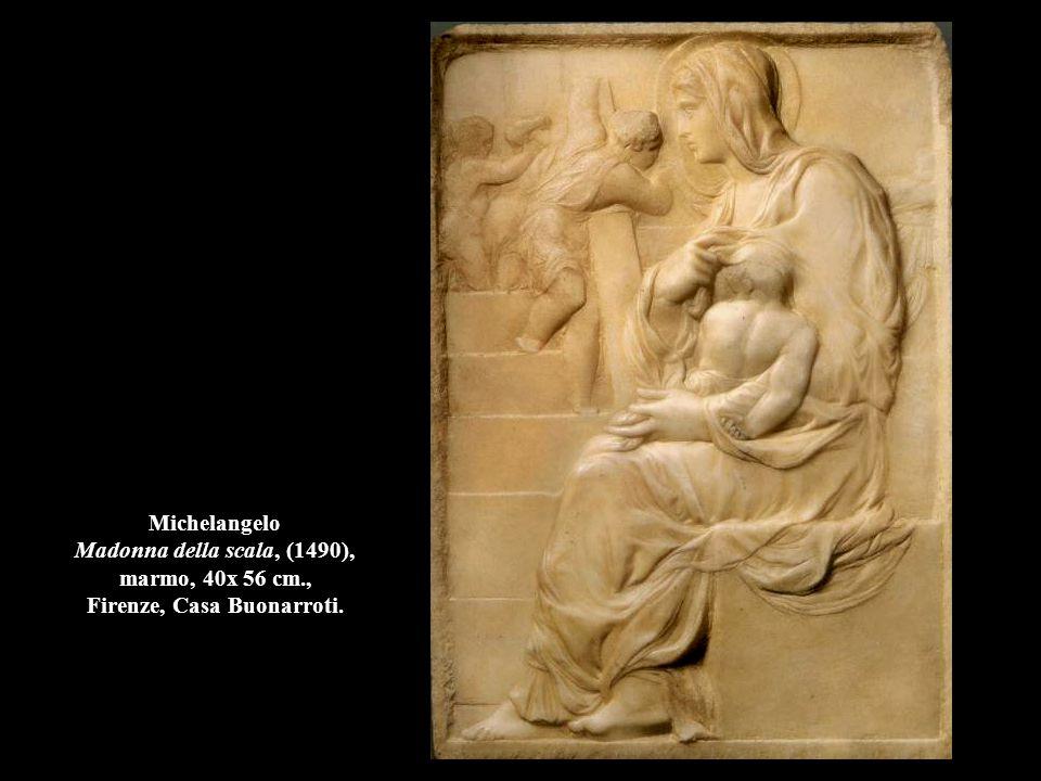 Michelangelo Madonna della scala, (1490), marmo, 40x 56 cm