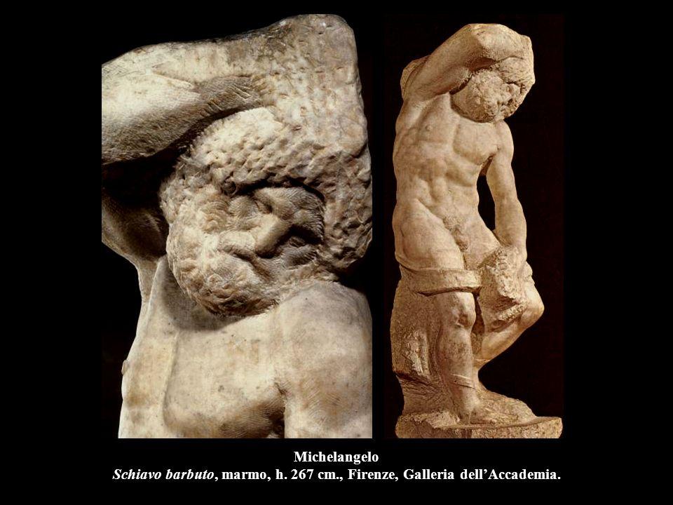 Michelangelo Schiavo barbuto, marmo, h. 267 cm