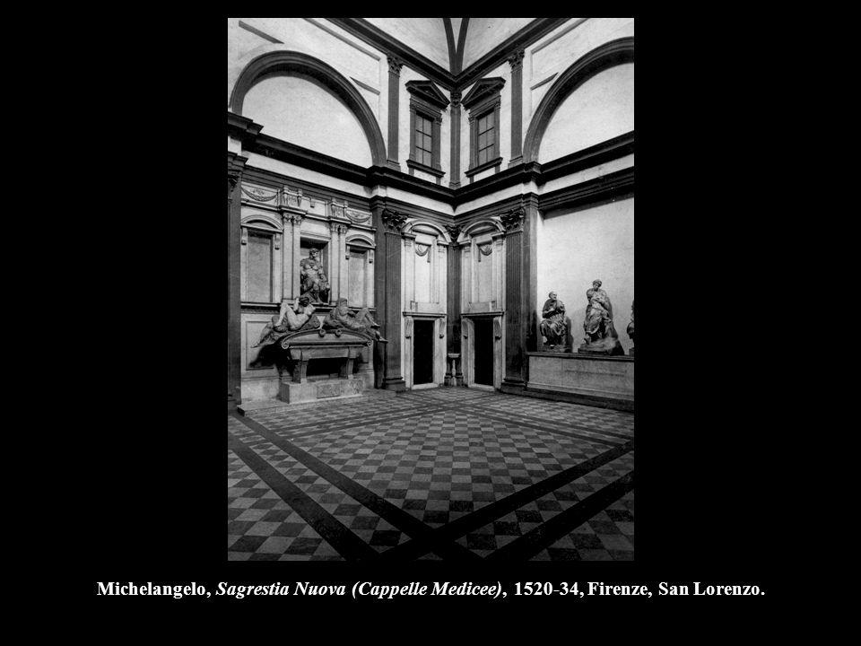 Michelangelo, Sagrestia Nuova (Cappelle Medicee), 1520-34, Firenze, San Lorenzo.