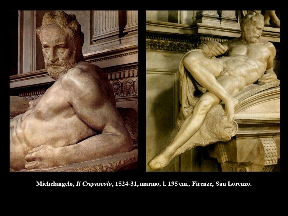 Michelangelo, Il Crepuscolo, 1524-31, marmo, l. 195 cm