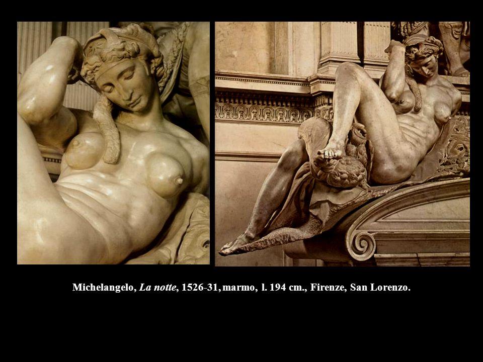 Michelangelo, La notte, 1526-31, marmo, l. 194 cm