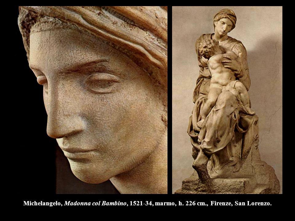 Michelangelo, Madonna col Bambino, 1521-34, marmo, h. 226 cm