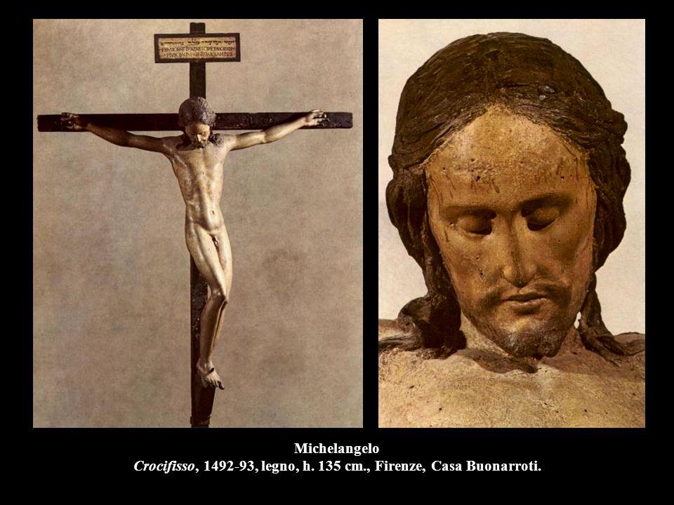 Michelangelo Crocifisso, 1492-93, legno, h. 135 cm