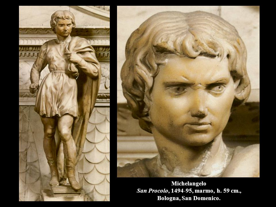 Michelangelo San Procolo, 1494-95, marmo, h. 59 cm