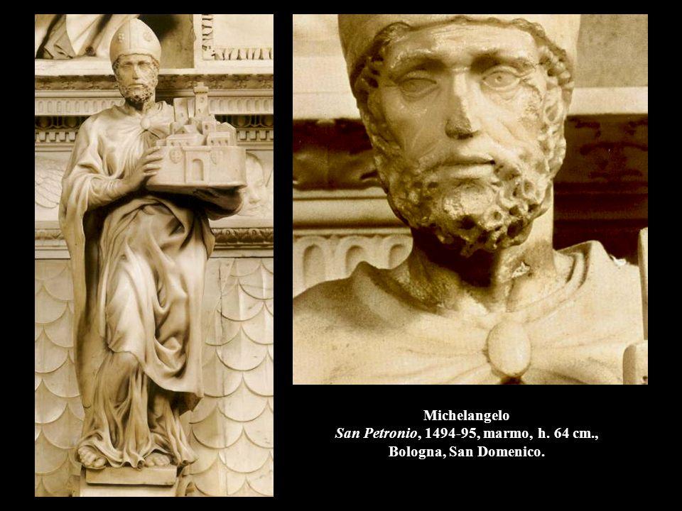 Michelangelo San Petronio, 1494-95, marmo, h. 64 cm