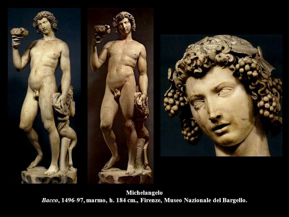 Michelangelo Bacco, 1496-97, marmo, h. 184 cm