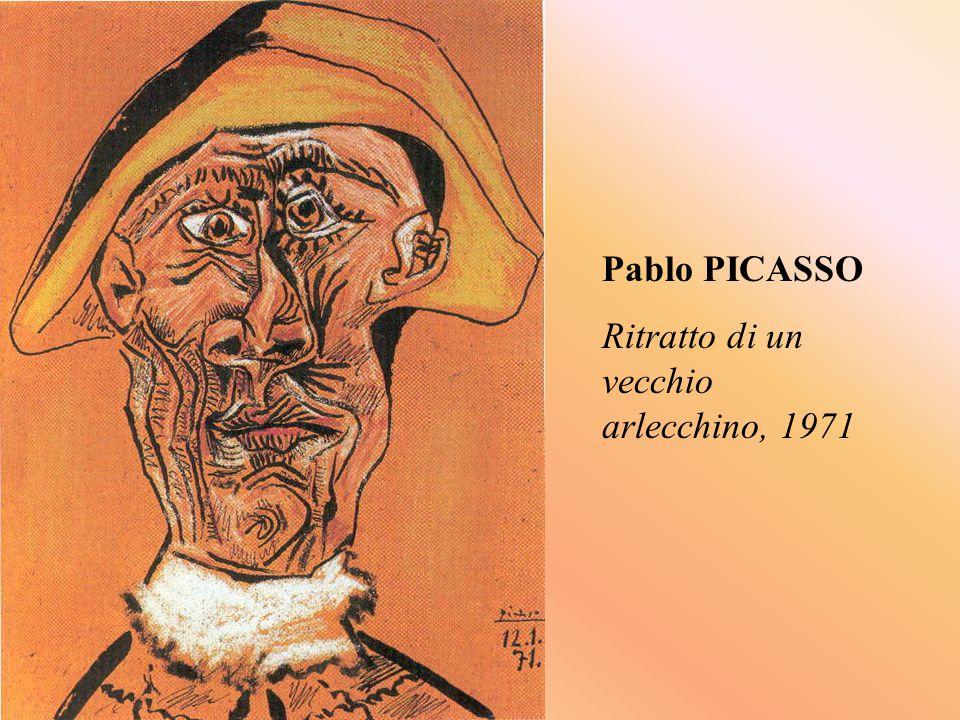 Pablo PICASSO Ritratto di un vecchio arlecchino, 1971
