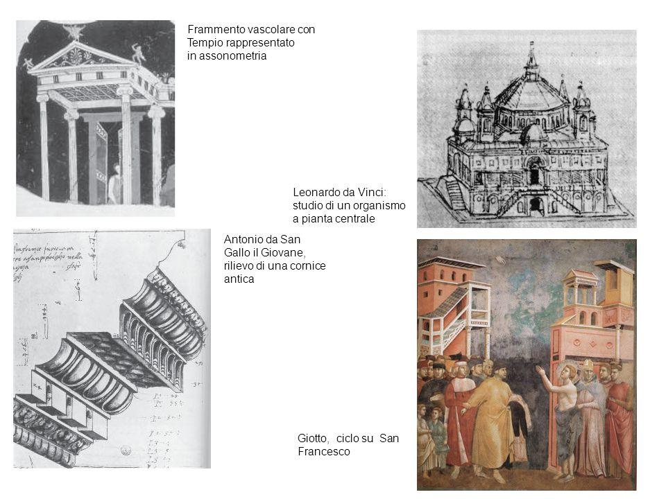 Frammento vascolare con Tempio rappresentato