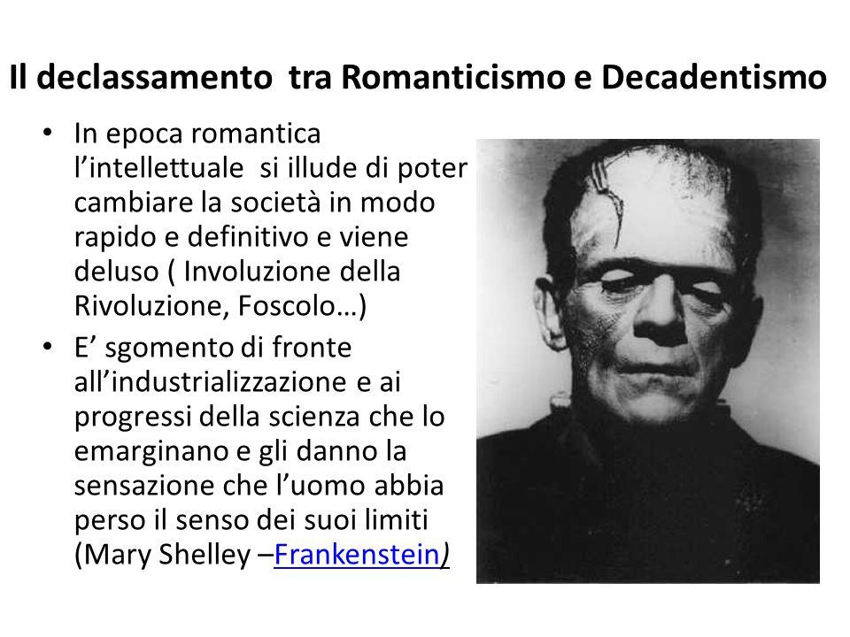 Il declassamento tra Romanticismo e Decadentismo