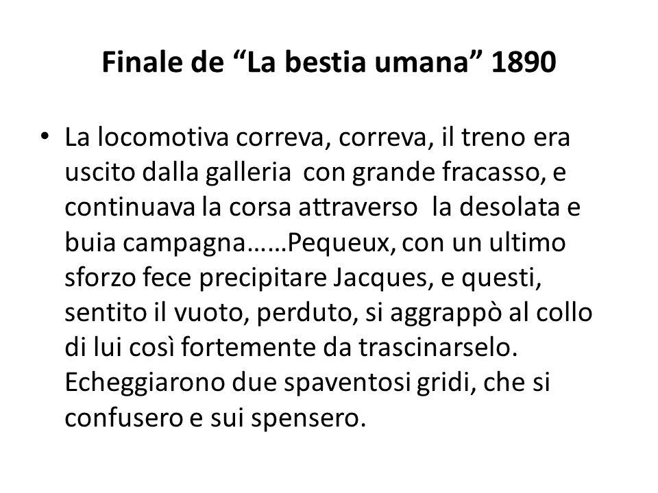 Finale de La bestia umana 1890