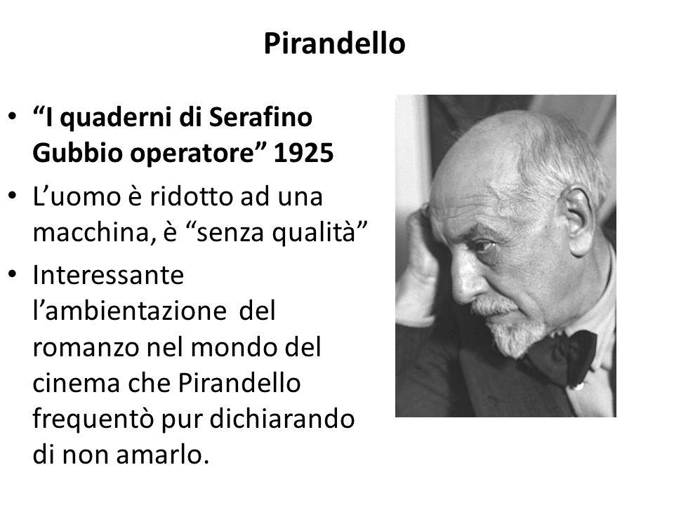 Pirandello I quaderni di Serafino Gubbio operatore 1925