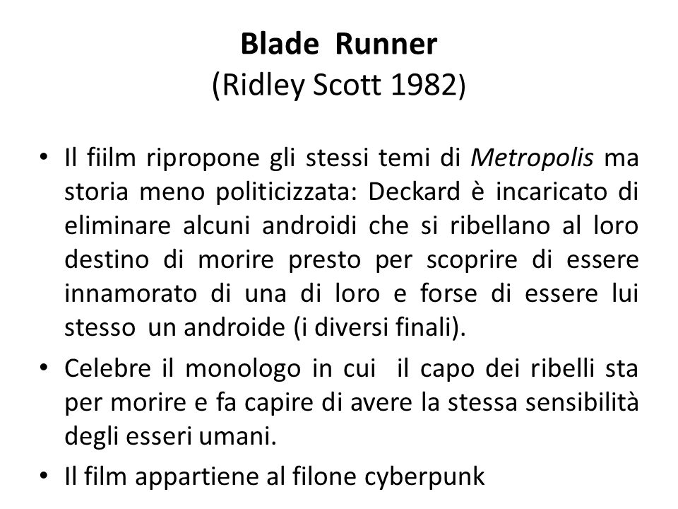 Blade Runner (Ridley Scott 1982)