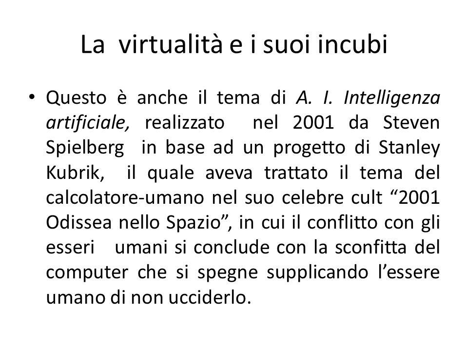 La virtualità e i suoi incubi