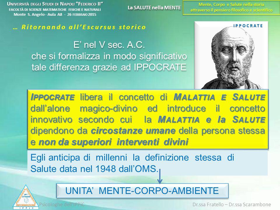 UNITA' MENTE-CORPO-AMBIENTE