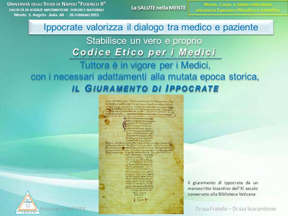 Ippocrate valorizza il dialogo tra medico e paziente