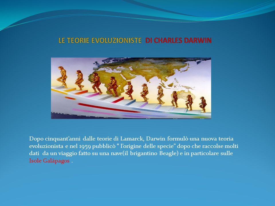 LE TEORIE EVOLUZIONISTE DI CHARLES DARWIN