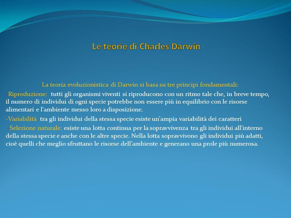 Le teorie di Charles Darwin