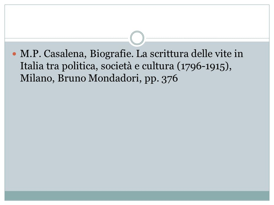 M.P. Casalena, Biografie.