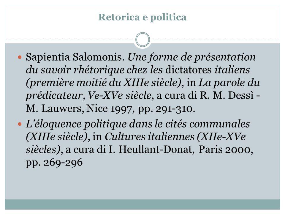 Retorica e politica