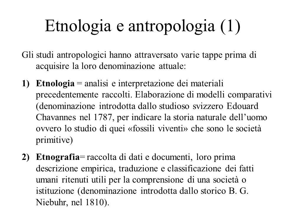 Etnologia e antropologia (1)