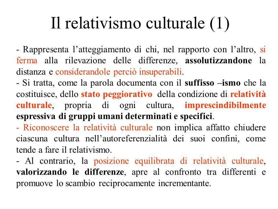 Il relativismo culturale (1)