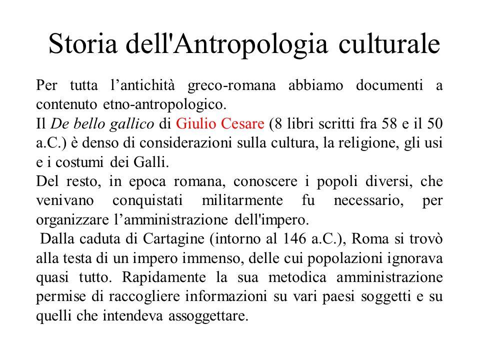 Storia dell Antropologia culturale