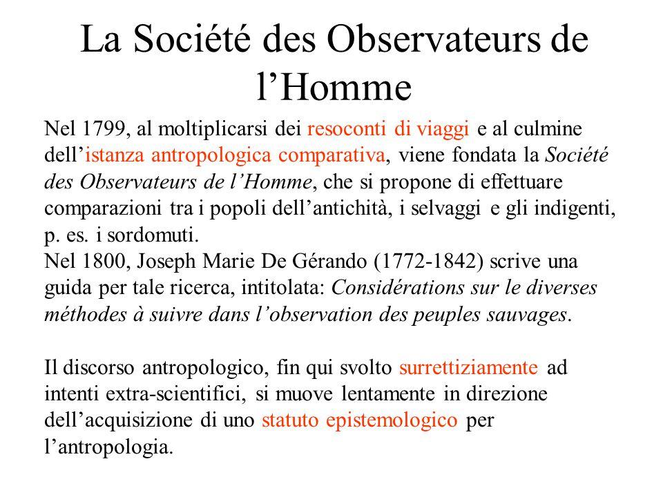 La Société des Observateurs de l'Homme