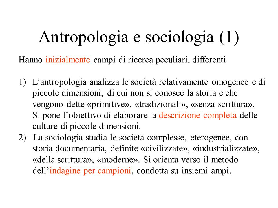 Antropologia e sociologia (1)