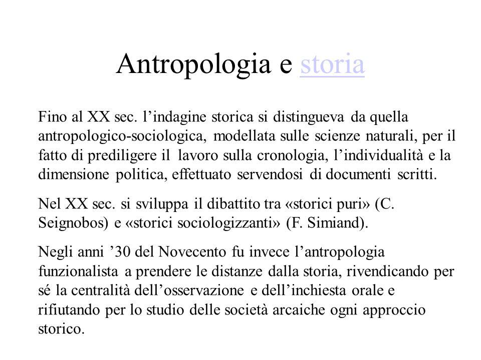 Antropologia e storia