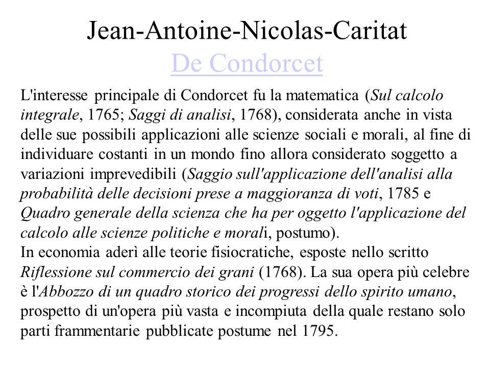 Jean-Antoine-Nicolas-Caritat De Condorcet