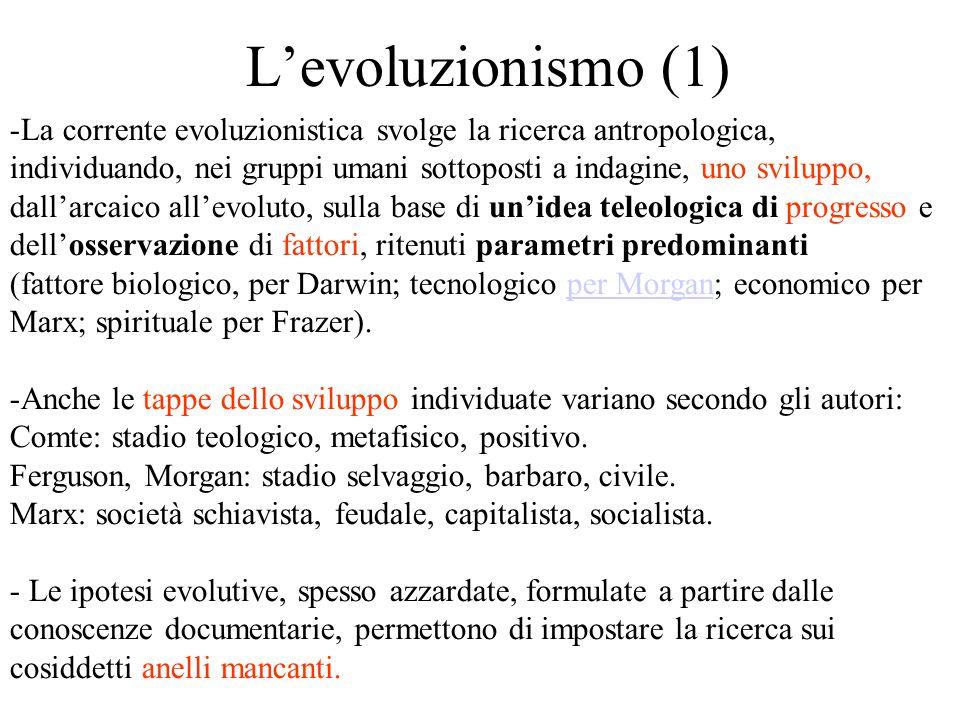 L'evoluzionismo (1)