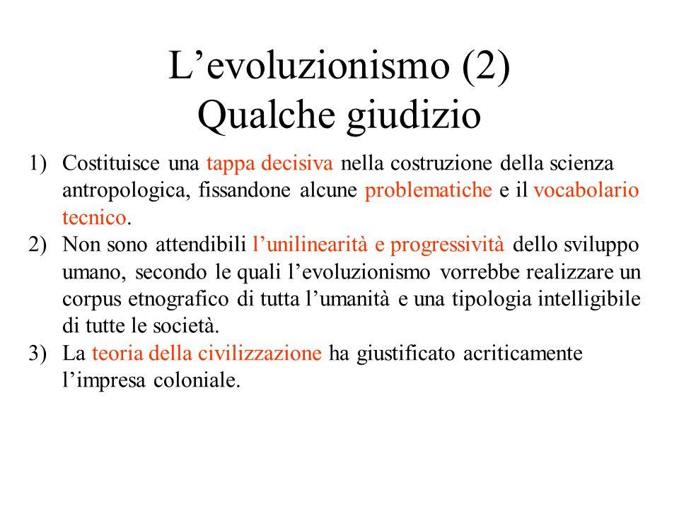 L'evoluzionismo (2) Qualche giudizio