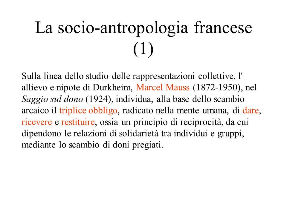 La socio-antropologia francese (1)