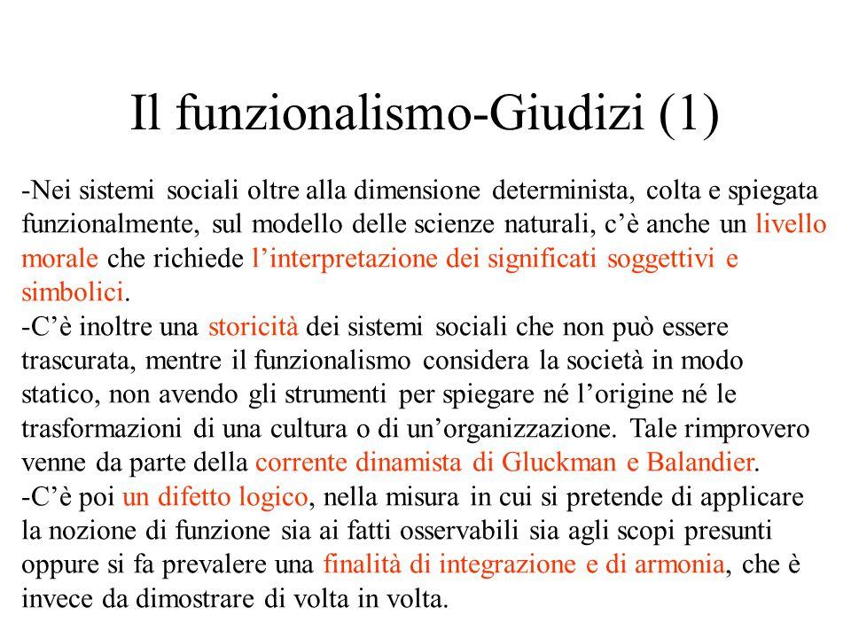 Il funzionalismo-Giudizi (1)