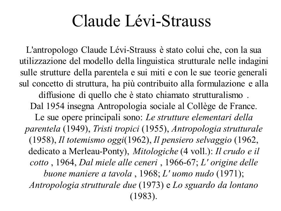 Dal 1954 insegna Antropologia sociale al Collège de France.