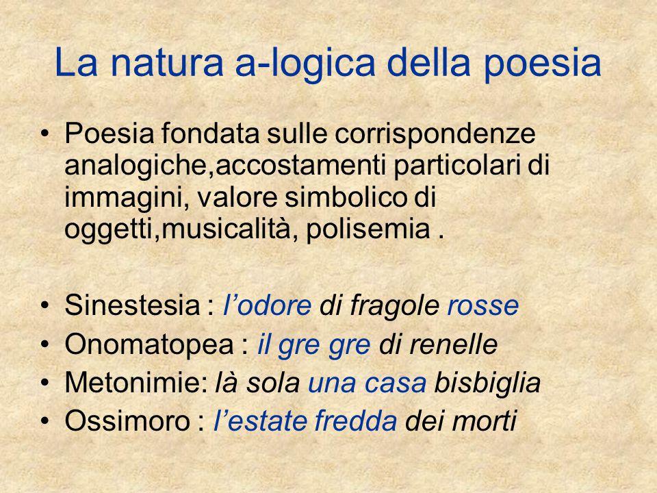 La natura a-logica della poesia