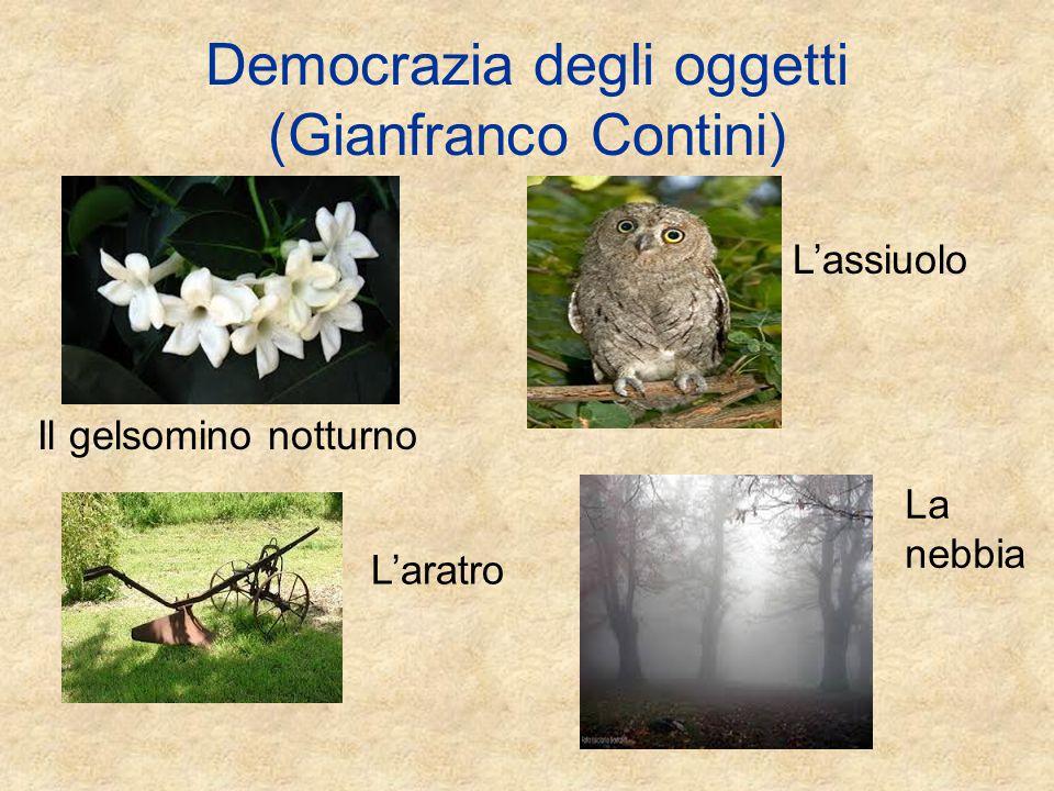 Democrazia degli oggetti (Gianfranco Contini)