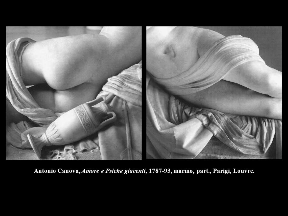Antonio Canova, Amore e Psiche giacenti, 1787-93, marmo, part