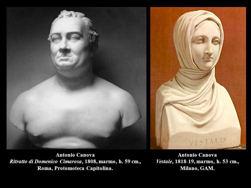 Antonio Canova Vestale, 1818-19, marmo, h. 53 cm., Milano, GAM.