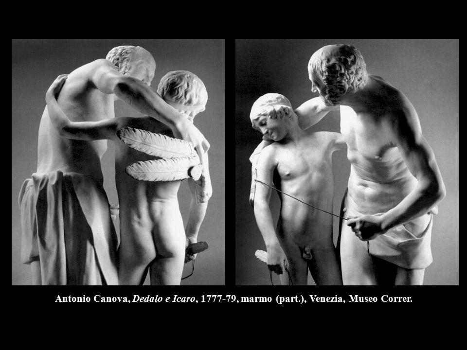 Antonio Canova, Dedalo e Icaro, 1777-79, marmo (part