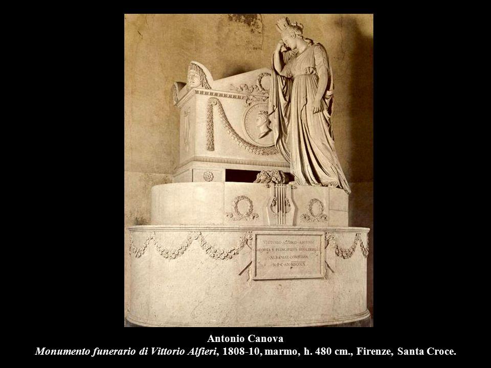 Antonio Canova Monumento funerario di Vittorio Alfieri, 1808-10, marmo, h.
