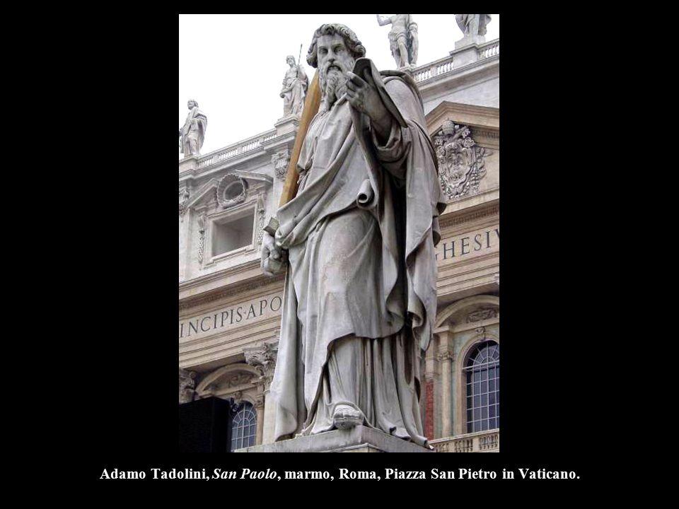 Adamo Tadolini, San Paolo, marmo, Roma, Piazza San Pietro in Vaticano.