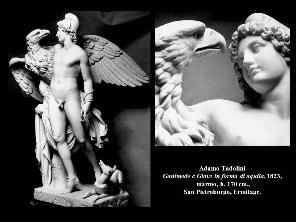 Adamo Tadolini Ganimede e Giove in forma di aquila, 1823, marmo, h